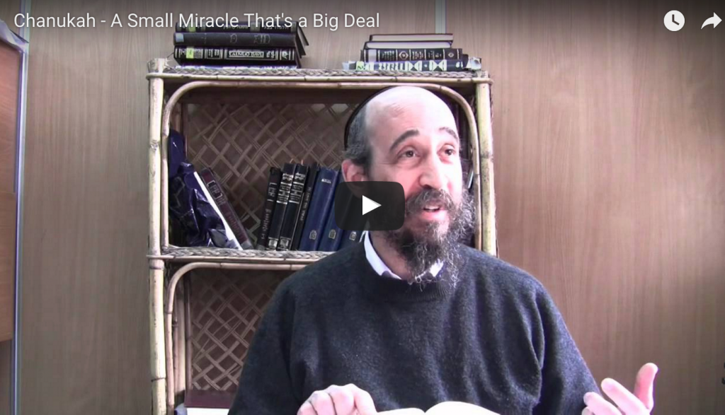 Chanukah – A Small Miracle That's a Big Deal