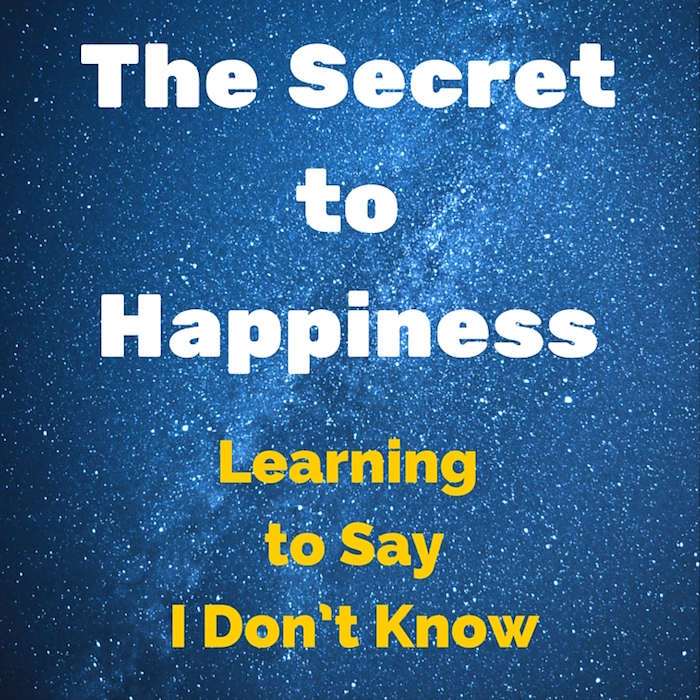 Purim - The Secret to Happiness - Learning to Say I Don't Know
